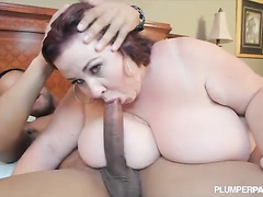Hardcore doggystyle and riding on big black cock of her son's friend is what she was dreaming about all years before.