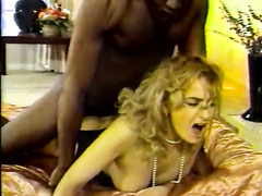 Stunning rich wife in lingerie gets her ass fucked hard by BBC in doggystyle and face covered in cum.