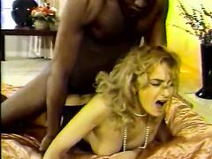 Retro big black dick anal w facial for a blonde hotwife