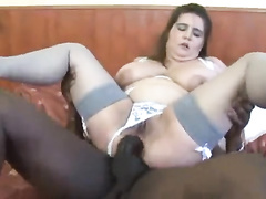 Bbw Caucasian hotwife in nightclothes gets ir anal