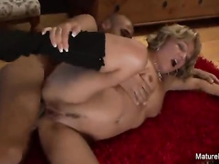 Pale blonde aged roughly penetrated in 'er anal by arab