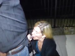 Outdoor fuck scene with Lauren Dewynter, a blond-haired swinger wife that loves interracial sex. Watch her take that BBC after a deepthroat blowjob, watch her get creampied.