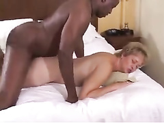 Mature woman moans during cheating sex with black fellow