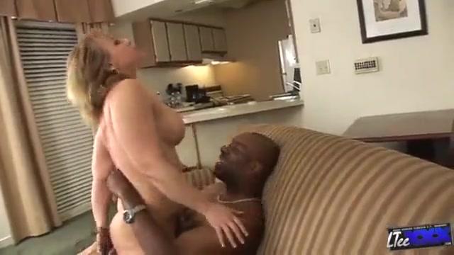 Horny Blonde white milf serves big black dick