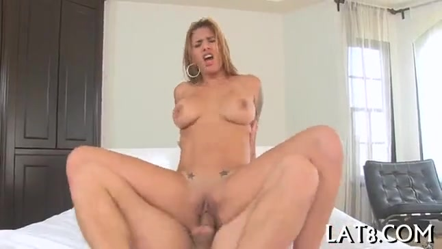 Sexiest blonde latina wife rides white cock