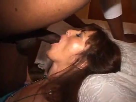 Amateur hotwife cuckold gagging in front of hubby