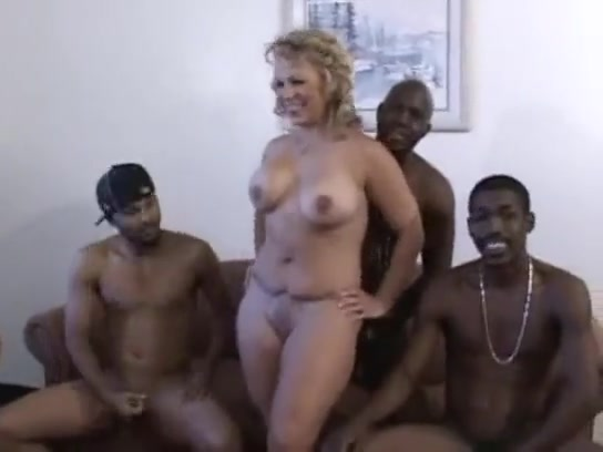 White blonde wife Summer bbc ir gangbang
