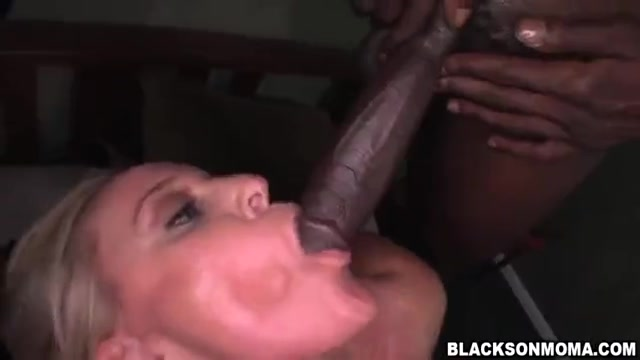 Blonde big titted milf gets threesome bbc hardcore