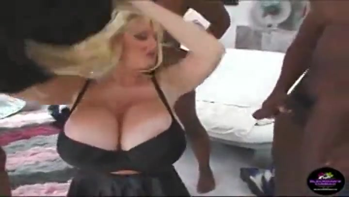 Super big titted blonde mom interracial dp gangbang