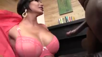 Busty brunette mom gets creampie from bbc