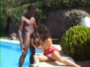 British classy slut gets bbc by the pool