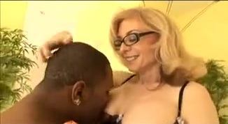 Classy white wife in glasses lets him get inside