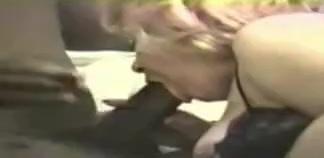 White blonde mom eats son's black bully's cock