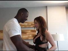 Busty housewife fucks big black cock while husband films