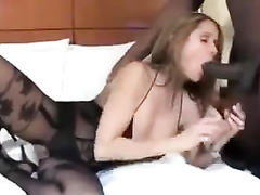 Latina hotwife Rio in bodystockings fucked by massive BBC