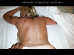 Russian blonde cougar amateur BBC doggystyle POV