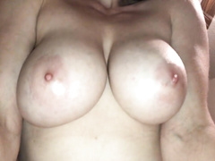 Busty young wife cucks hubby w old man